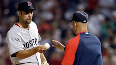 Rangers Rally on Smoltz, Hand Red Sox Third Straight Loss