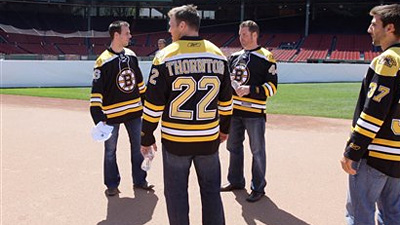 Bruins' Thornton Spending Productive Offseason in Boston