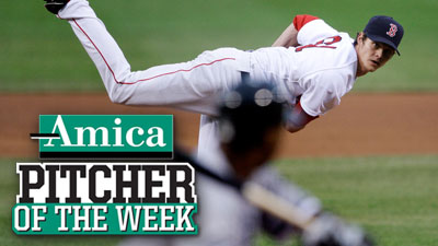 Red-Hot Buchholz Earns Amica Pitcher of the Week