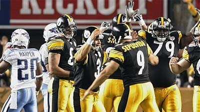 Roethlisberger, Reed Lift Steelers to OT Win Over Titans