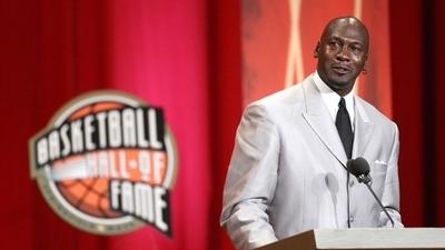 Jordan Enshrined in Basketball Hall of Fame