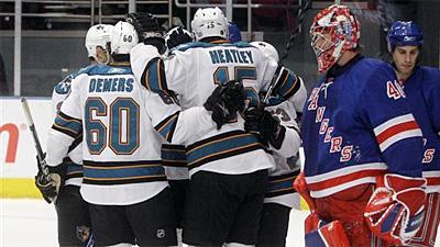Devin Setoguchi's Two Goals Help Sharks End Rangers' Win Streak