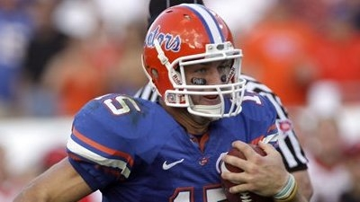 Florida's Tim Tebow Breaks SEC Rushing Touchdown Record