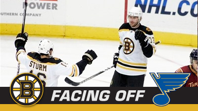 Bruins Hope to Keep Delivering the Blues on Road Trip