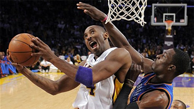 Lakers Beat Thunder for 11th Straight Time