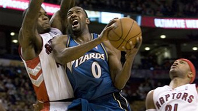 Antawn Jamison, Gilbert Arenas Lead Wizards Past Raptors