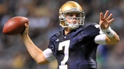 Notre Dame's Jimmy Clausen, Golden Tate to Enter NFL Draft