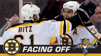 Panthers Stand Between Bruins and Third Straight Win