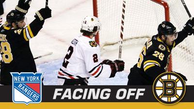 Bruins Look to Avenge Monday's 3-2 Loss as Rangers Visit TD Garden