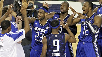 Rajon Rondo Right at Home With Rest of NBA All-Stars