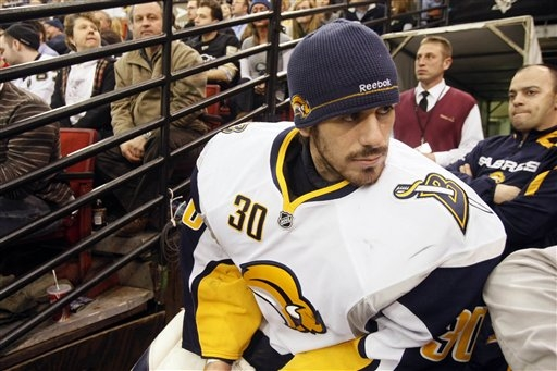 Sabres Goalie Ryan Miller Rides Pine in First Game Back Since Winning Silver at Olympics