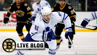 Bruins Live Blog: Bruins Beat Leafs In Shootout