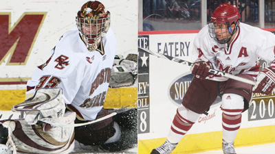 BC Goes for Four in a Row Against UMass in First-Round Hockey East Action