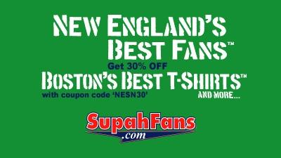 Save 30 Percent on Boston Sports T-Shirts at SupahFans.com
