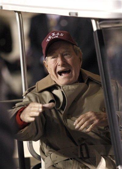 George H.W. Bush, Matt Stafford Unable to Pull Off Turkey Day Upset
