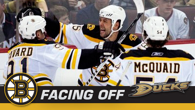 Bruins' West Coast Swing Begins in Anaheim