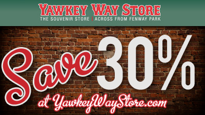 Save 30 Percent on Merchandise at YawkeyWayStore.com
