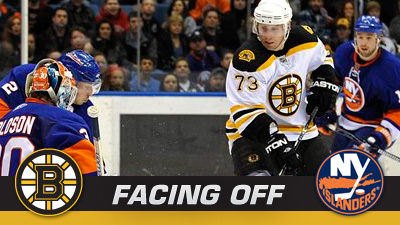 Bruins Face Islanders in First Stop of Seven-Game Road Trip