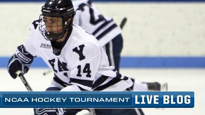 NCAA  Hockey Live Blog: Denny Kearney's Two Goals Lead Yale to Upset Win Over North Dakota