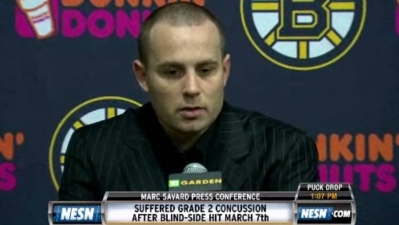 Marc Savard: 'I Think There Was an Attempt to Injure'