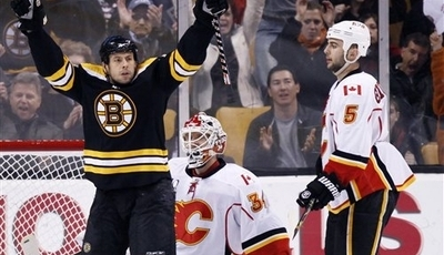 Tim Thomas Shuts Out Flames, Bruins Win 5-0