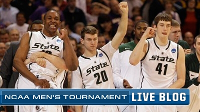 NCAA Tournament Live Blog: Michigan State Into Final Four for Second Straight Year