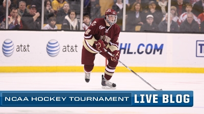 NCAA Hockey Live Blog: BC Advances to Frozen Four With 9-7 Win Over Yale