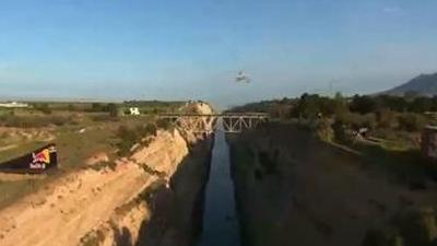 Robbie Maddison Jumps Corinth Canal in Greece, Confirms He's New Evel Knievel