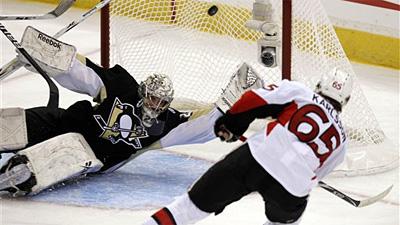 Senators Surprise Penguins 5-4 in Series Opener