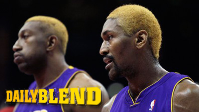 Ron Artest and His Yellow Mini-Fro Ready for NBA Playoff Schedule to Begin
