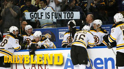 Sabres Fans Offer Consolation Prize to Bruins During Playoff Opener