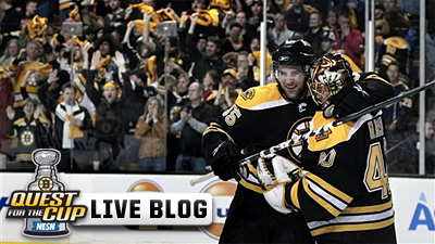 Bruins Live Blog: Bruins Win 2-1 to Take 2-1 Series Lead