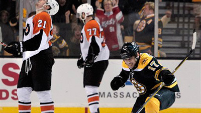 Bruins Learn Lessons Without Taking Loss in Opening Games Against Flyers