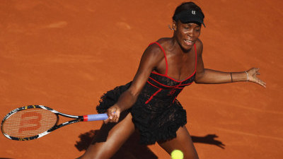 Venus Williams Plays First Round of French Open in Style
