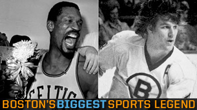 Bobby Orr Pitted Against Bill Russell in Final Round of Boston's Biggest Sports Legend
