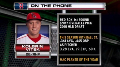 First-Round Pick Kolbrin Vitek Calls NESN, Excited to Join Red Sox