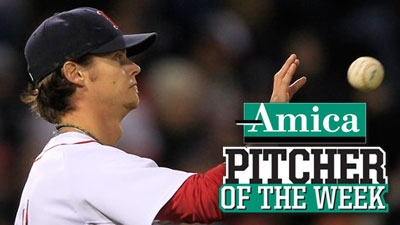 Clay Buchholz Grabs AL-Best 10th Victory, Earns Amica Pitcher of the Week Honors