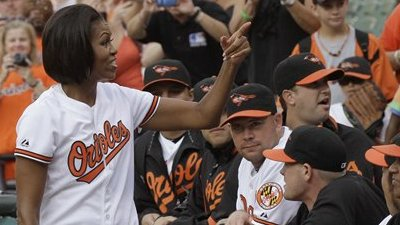 Michelle Obama Lends Support as Baltimore Defeats Tampa Bay 11-10 in Extra Innings