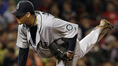 Felix Hernandez Becomes Third Youngest Pitcher to Reach 1,000 K's in 4-2 Win Over Red Sox