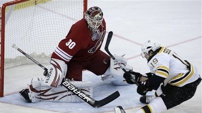 Bruins Old and New Step Up in Win Against Phoenix Coyotes