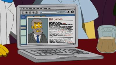 Sabermetrician Bill James Pokes Fun at Himself on 'The Simpsons'