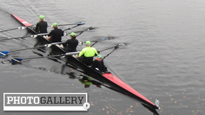 Overcast Skies, Showers Don't Deter Scullers in Day 2 of the Head of the Charles Regatta (Photos)