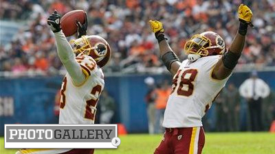 DeAngelo Hall, Brett Favre Make NFL Week 7 Week of the Pick Six (Photos)