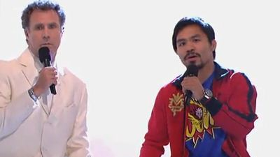 Manny Pacquiao, Will Ferrell Sing 'Imagine' on 'Jimmy Kimmel Live!'