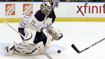 Sabres Goaltender Ryan Miller Could Miss Game Against Bruins With Lower-Body Injury