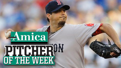 Josh Beckett's Performance in Kansas City Earns Him Amica Pitcher of the Week Honors