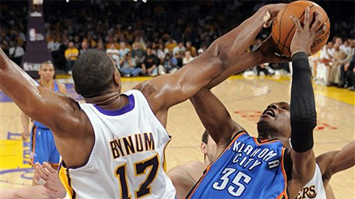 Pau Gasol, Andrew Bynum Overpower Thunder 87-79 in Game 1