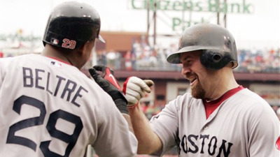 Kevin Youkilis Scores Three Runs As Red Sox Trounce Phillies 8-3