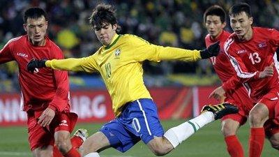 Brazil Tallies Two Goals in Second Half, Beats North Korea 2-1