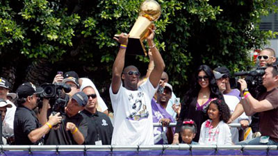 Lakers Celebrate NBA Championship With Parade Through Los Angeles
